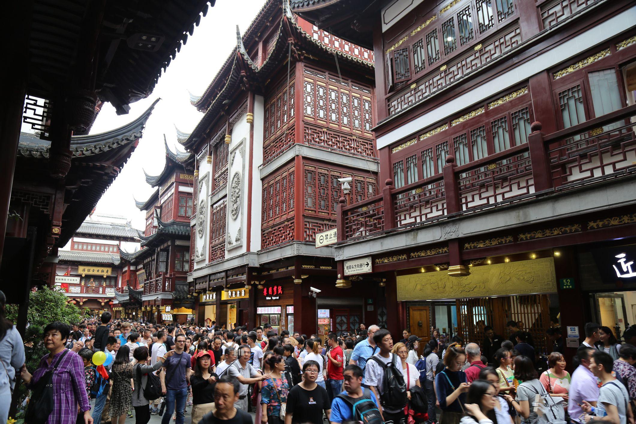 Shanghai Old City during Golden Week