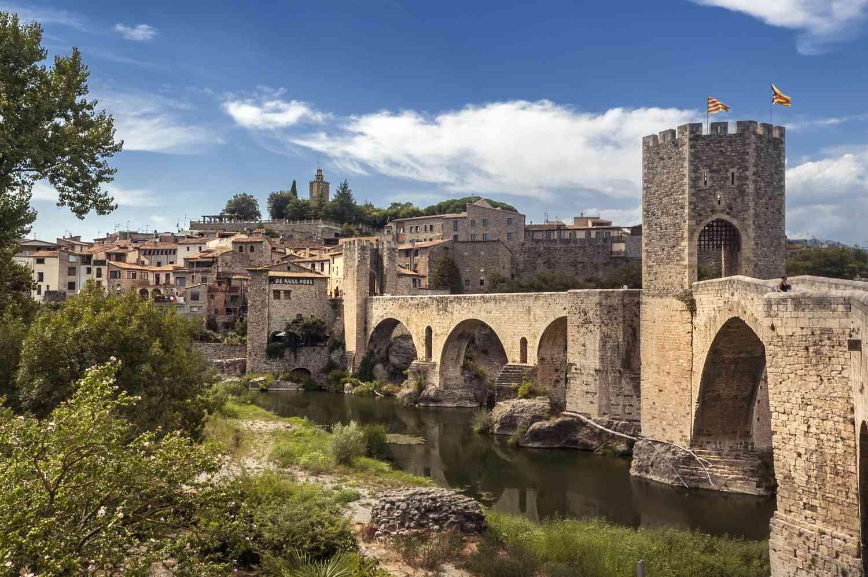 Medieval town of Besalú, Spain