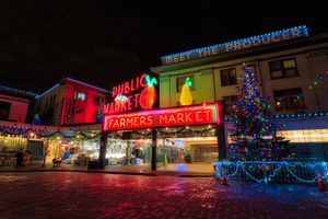 Pike's Place Market at Christmas