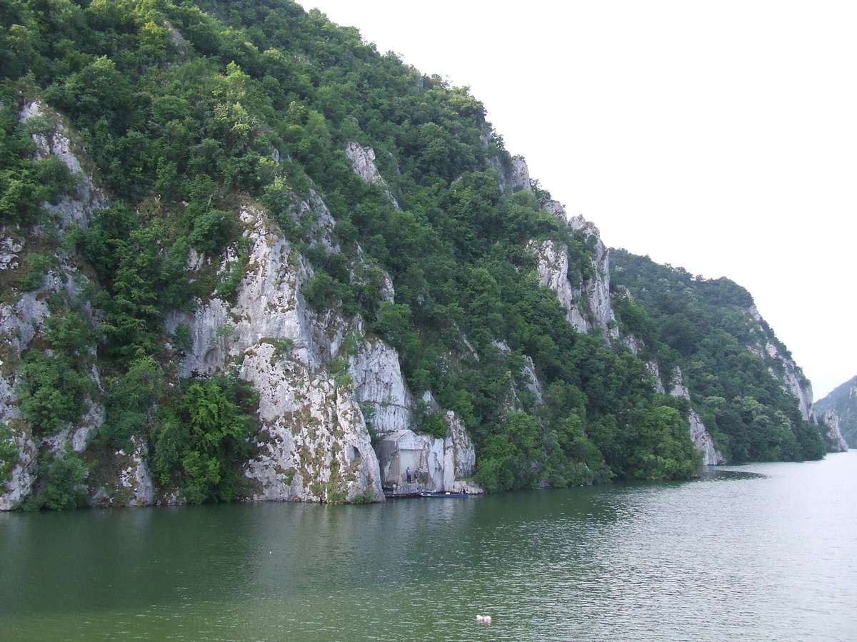 Iron Gate of the Danube River between Serbia and Romania