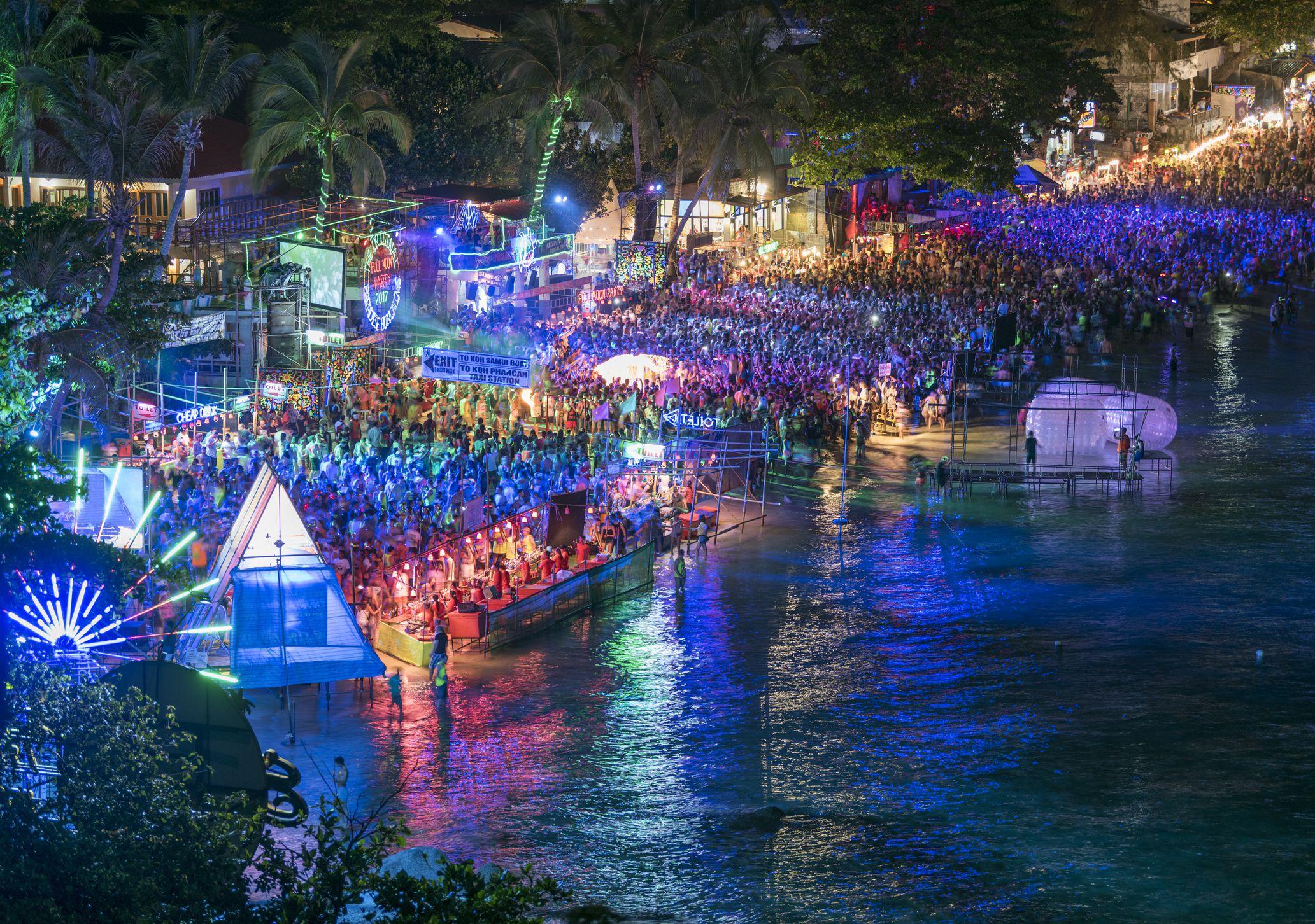 Full Moon Party, Haad Rin Beach, Koh Phangan, Thailand