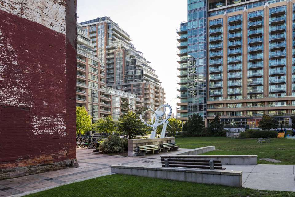 Liberty Village Park in Toronto