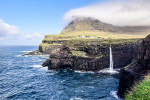 Gasadalur waterfall on Faroe Islands