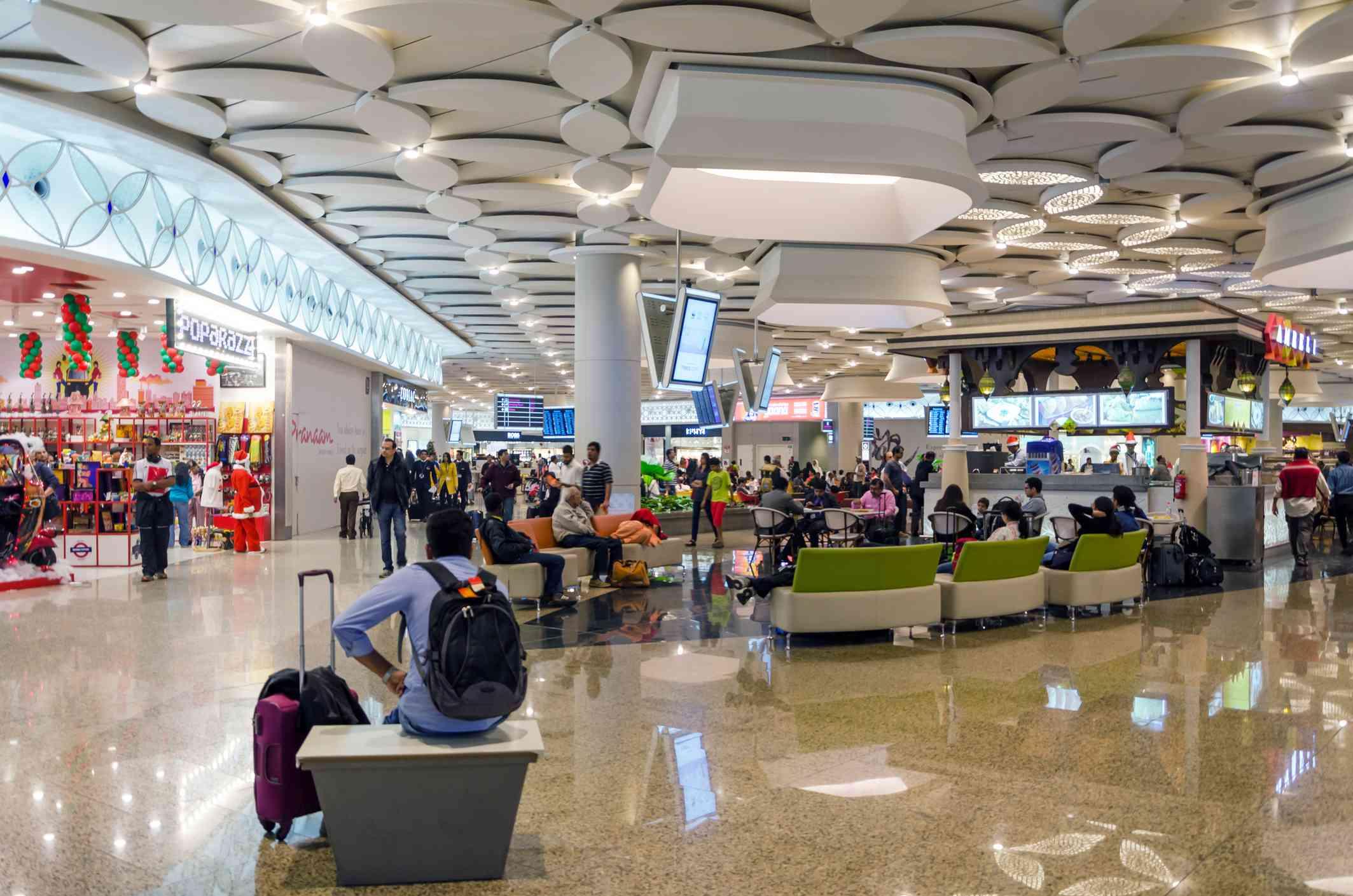 Tourist Shopping at Duty free zone in Chhatrapati Shivaji Airport, Mumbai.