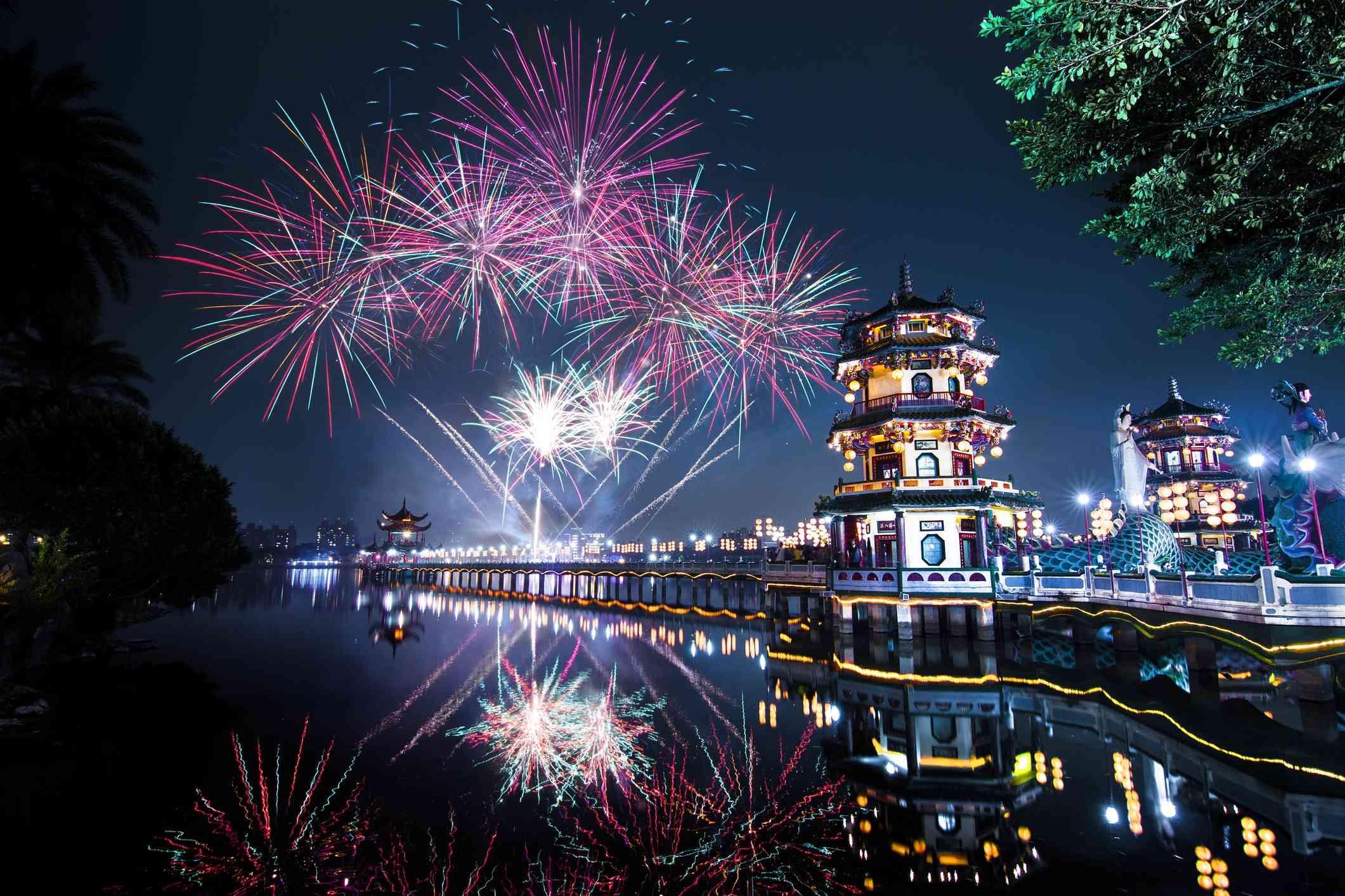Pyrotechnics over Taiwan