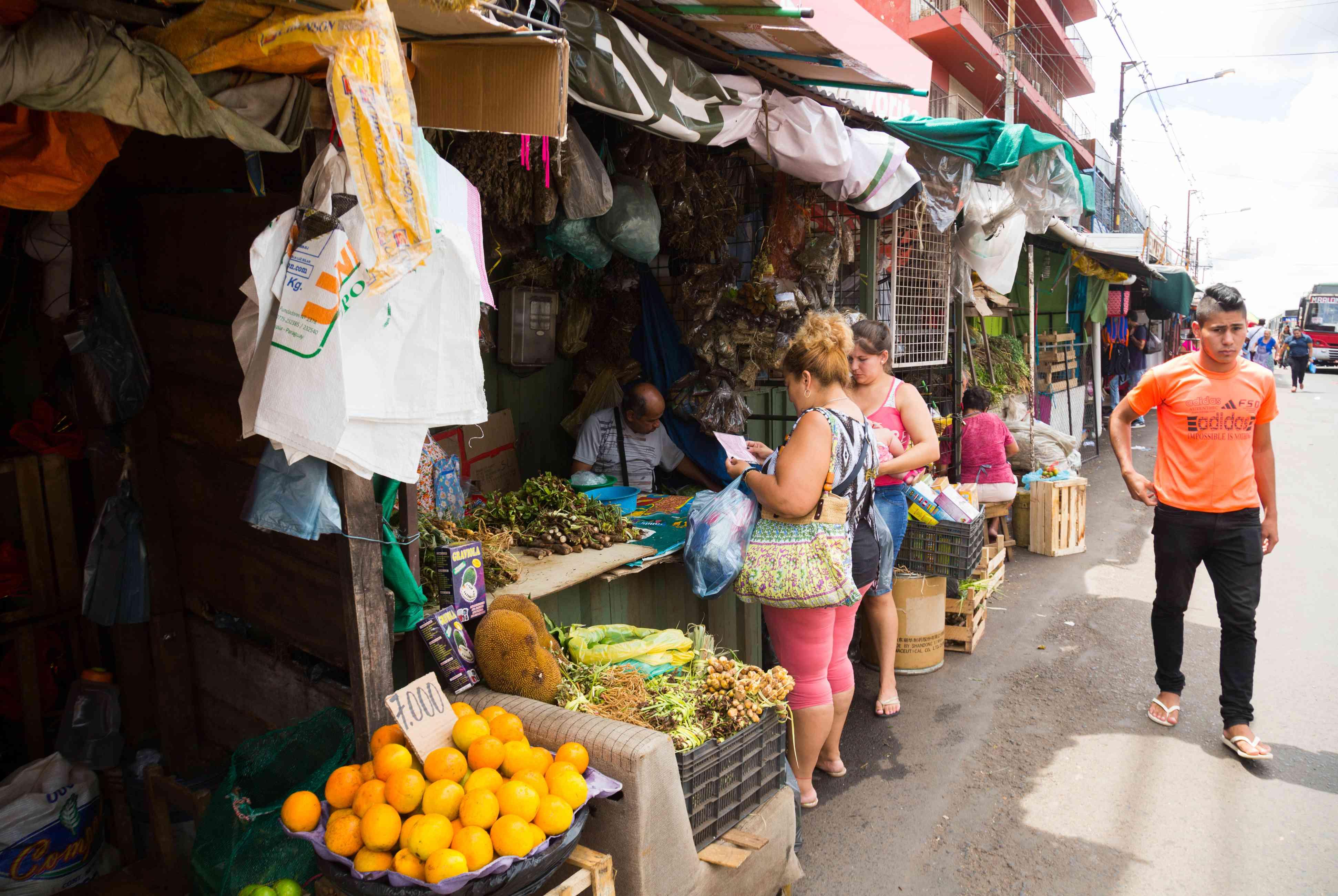 Central market in Asuncion