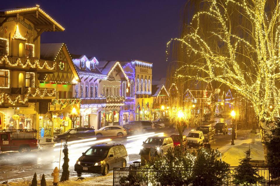 Christmas Lighting Festival, Leavenworth, Washington, USA