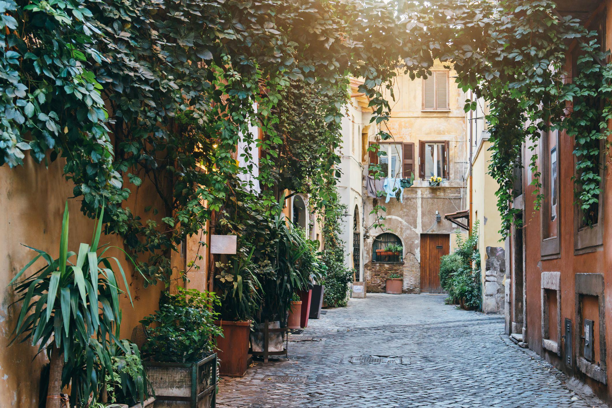 Barrio del Trastevere en Roma