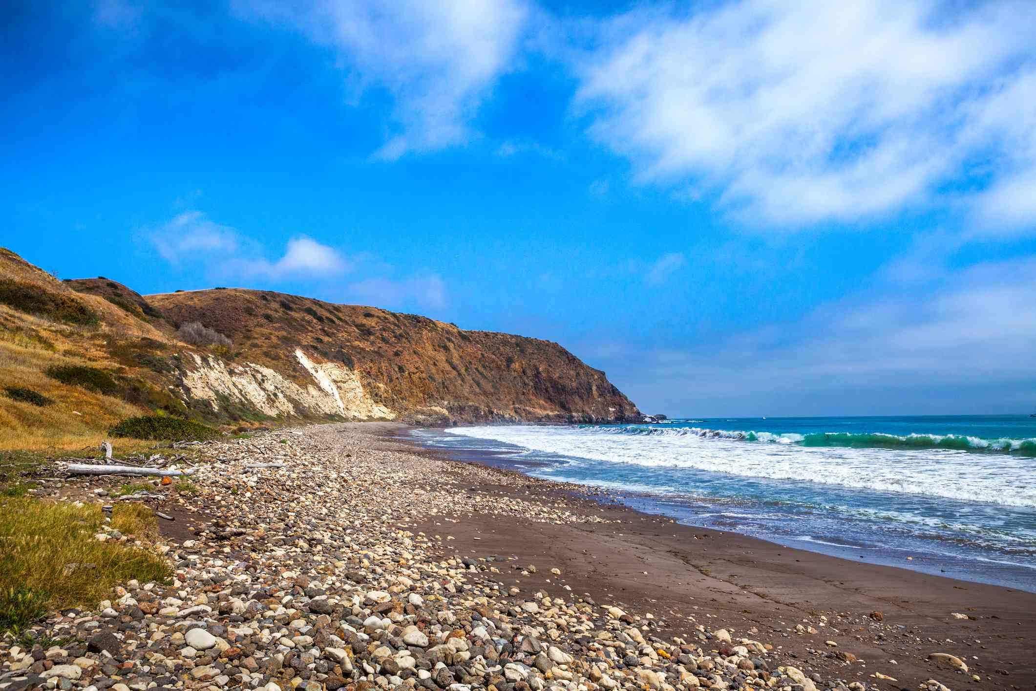 Smugglers Cove in Santa Cruz, California
