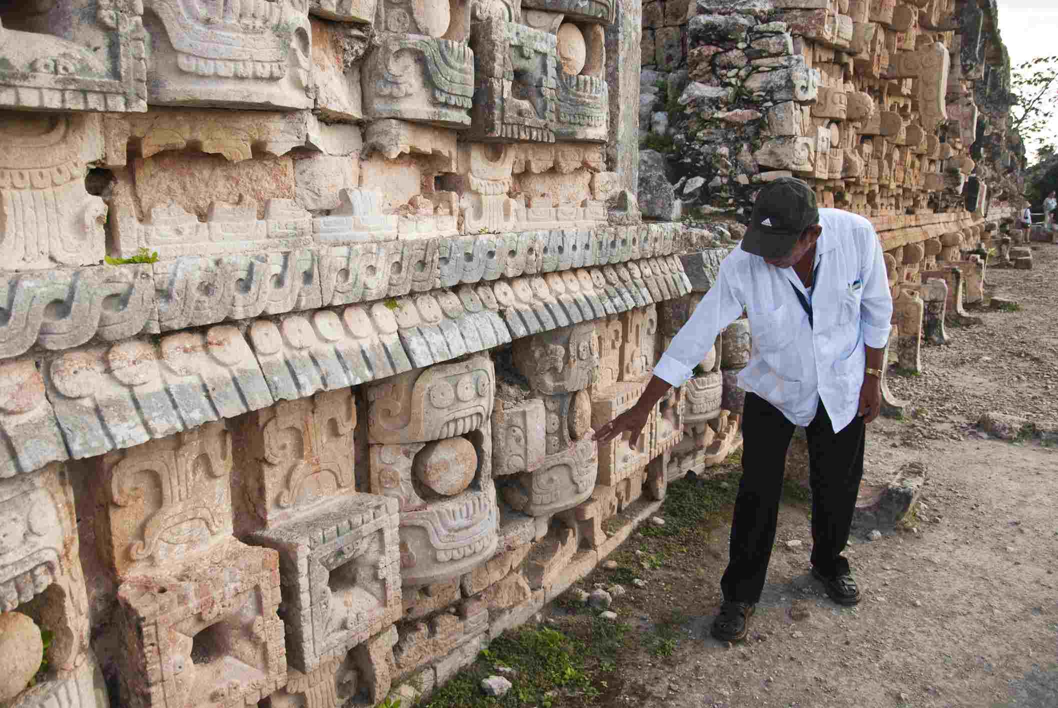 Tour guide at Maya archaeological site