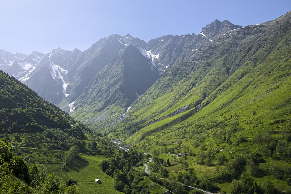 The Pyrenees Mountain Range in France