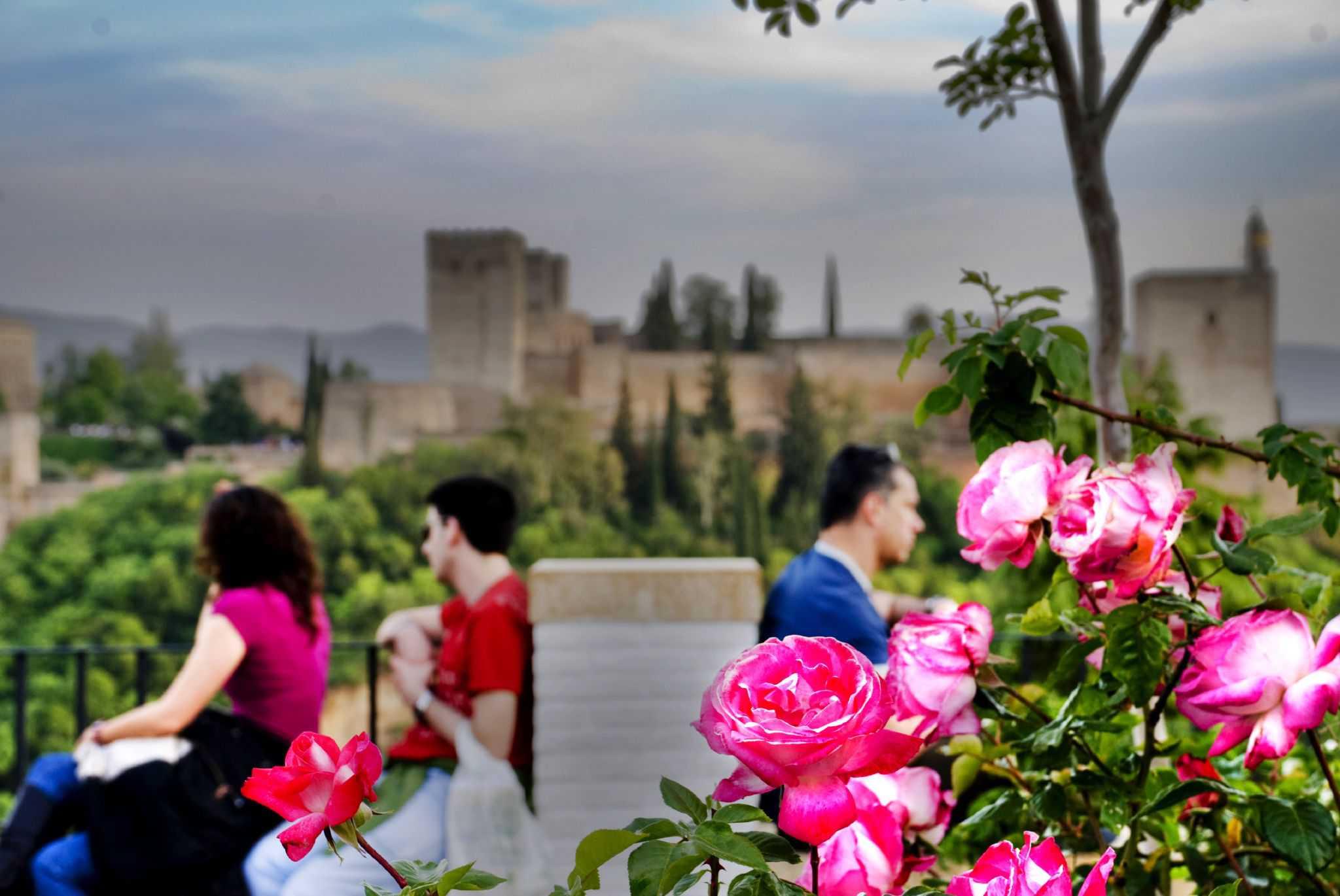 Enjoying the Alhambra in Granada