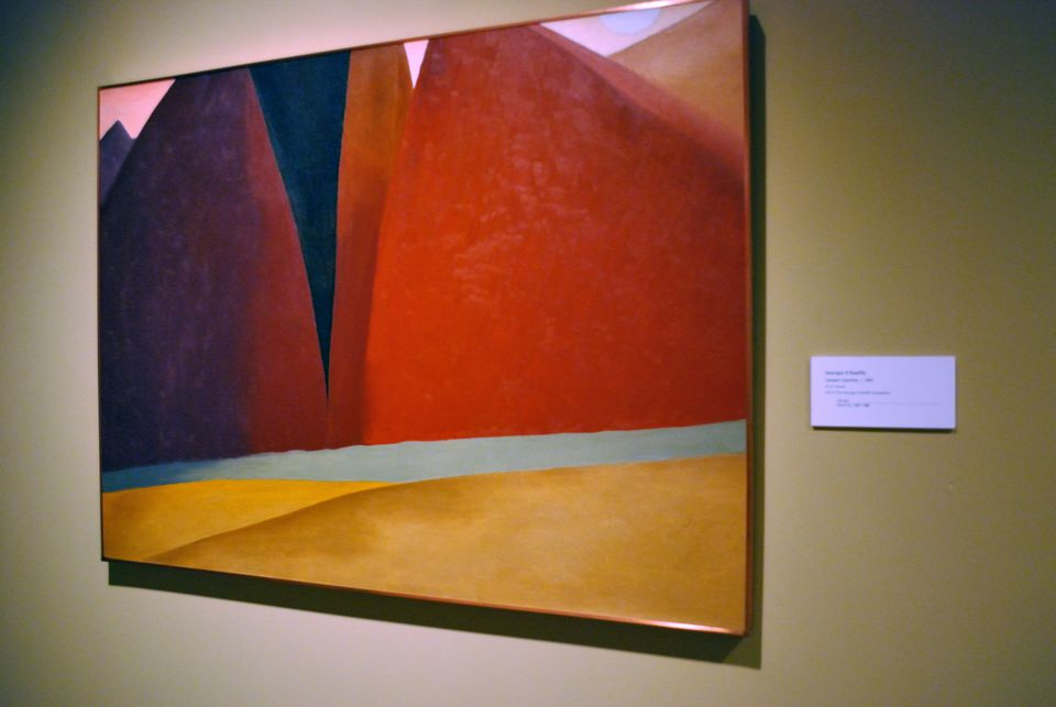 Georgia O'Keefe painting at Phoenix Art Museum