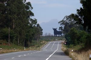 Bull sign in Spain