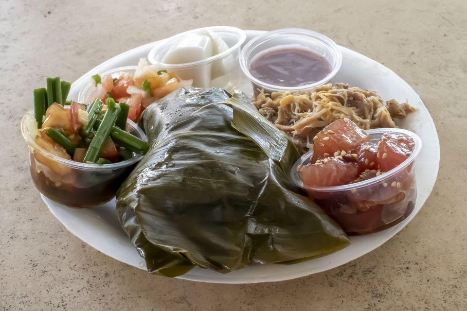 Hawaiian plate with Lau Lau