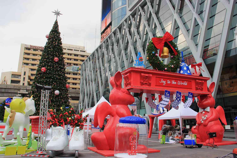 Ratchaprasong Christmas decorations in Bangkok