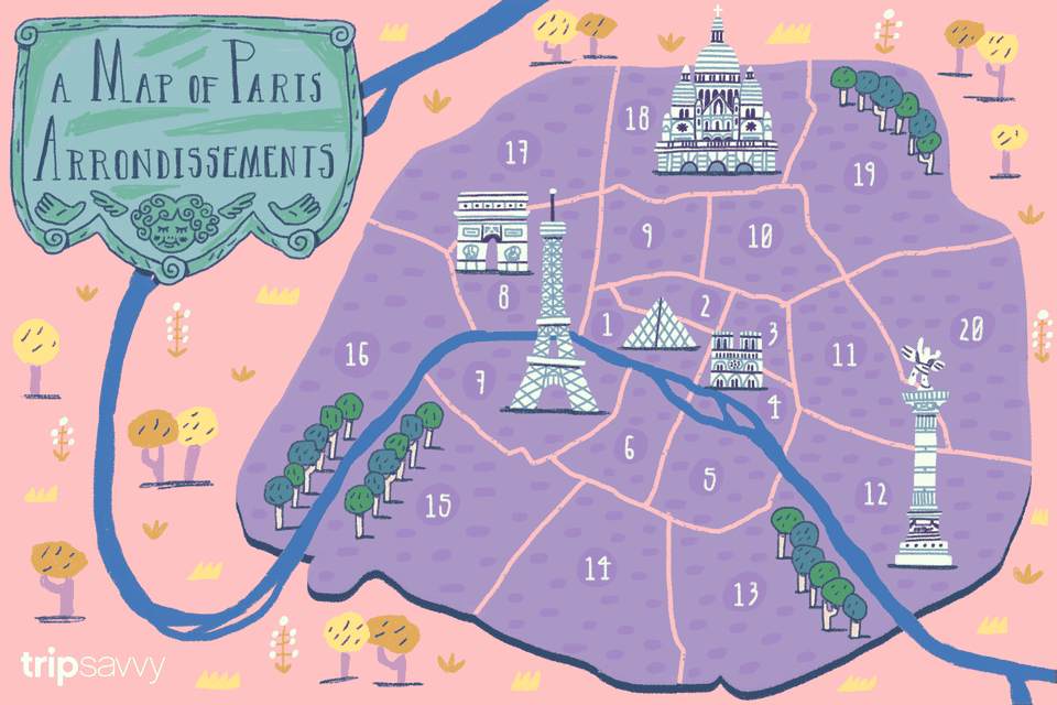 Paris Arrondissements Map And Guide