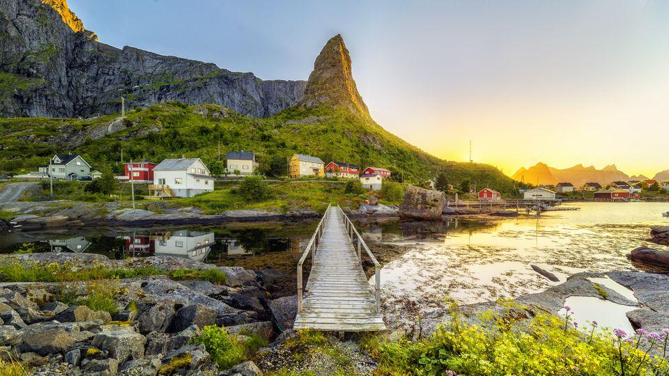 Lofoten es un archipiélago en el condado de Nordland, Noruega