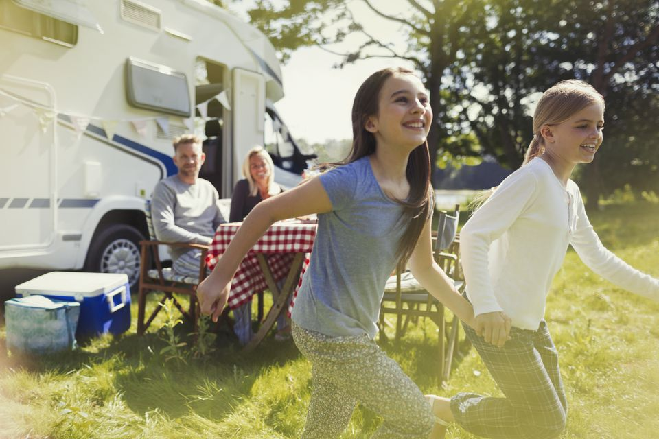 Family RVing together