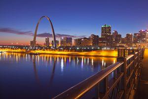 Sunset in St. Louis, Missouri