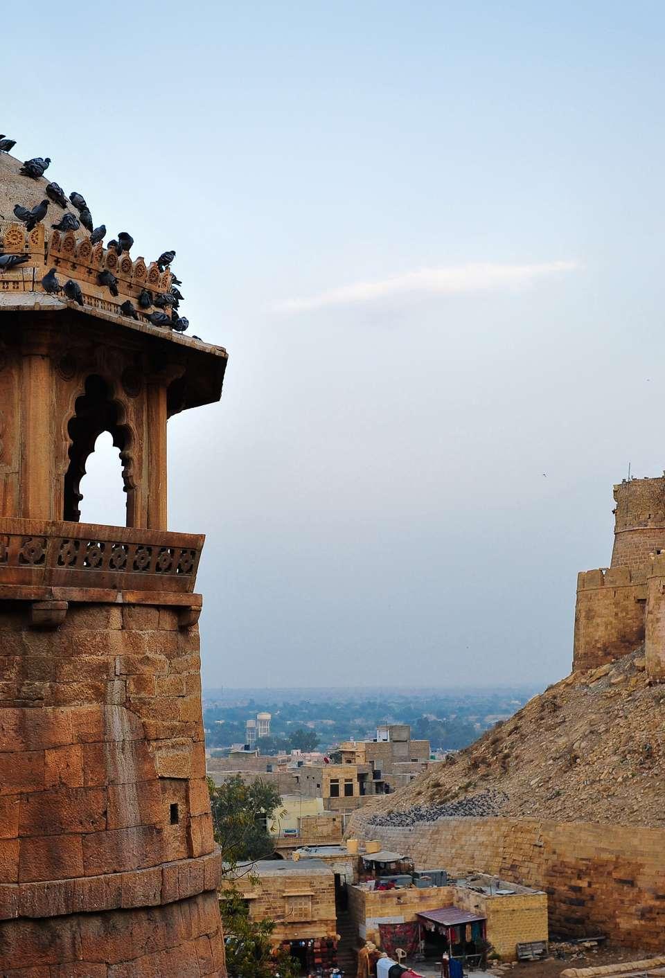 A beautiful detail on a building near Jaisalmer Fort, Jaisalmer, India
