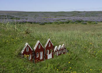 Elves houses in Iceland.