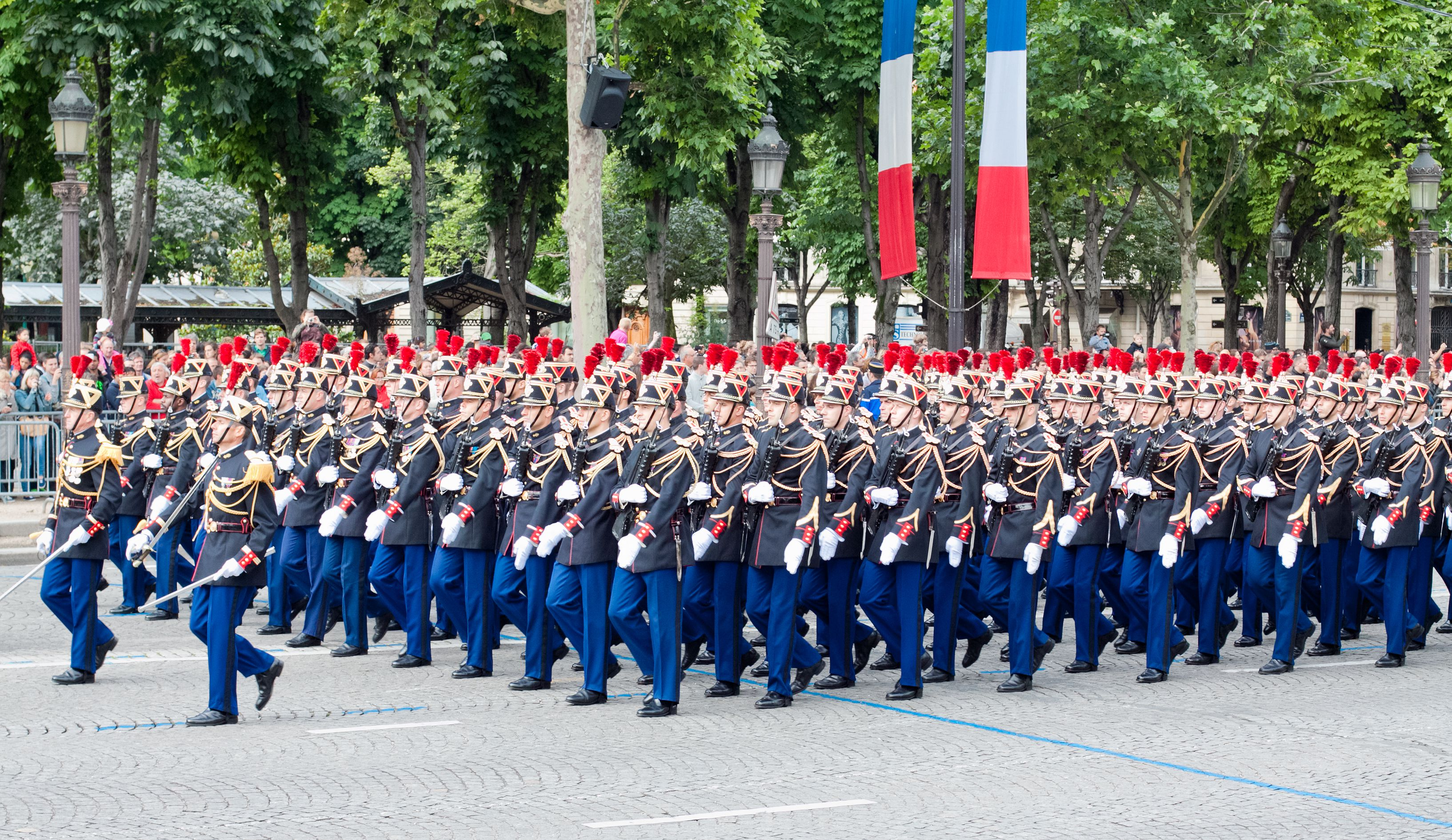 Military parade on Bastille Day on Champs Elysees