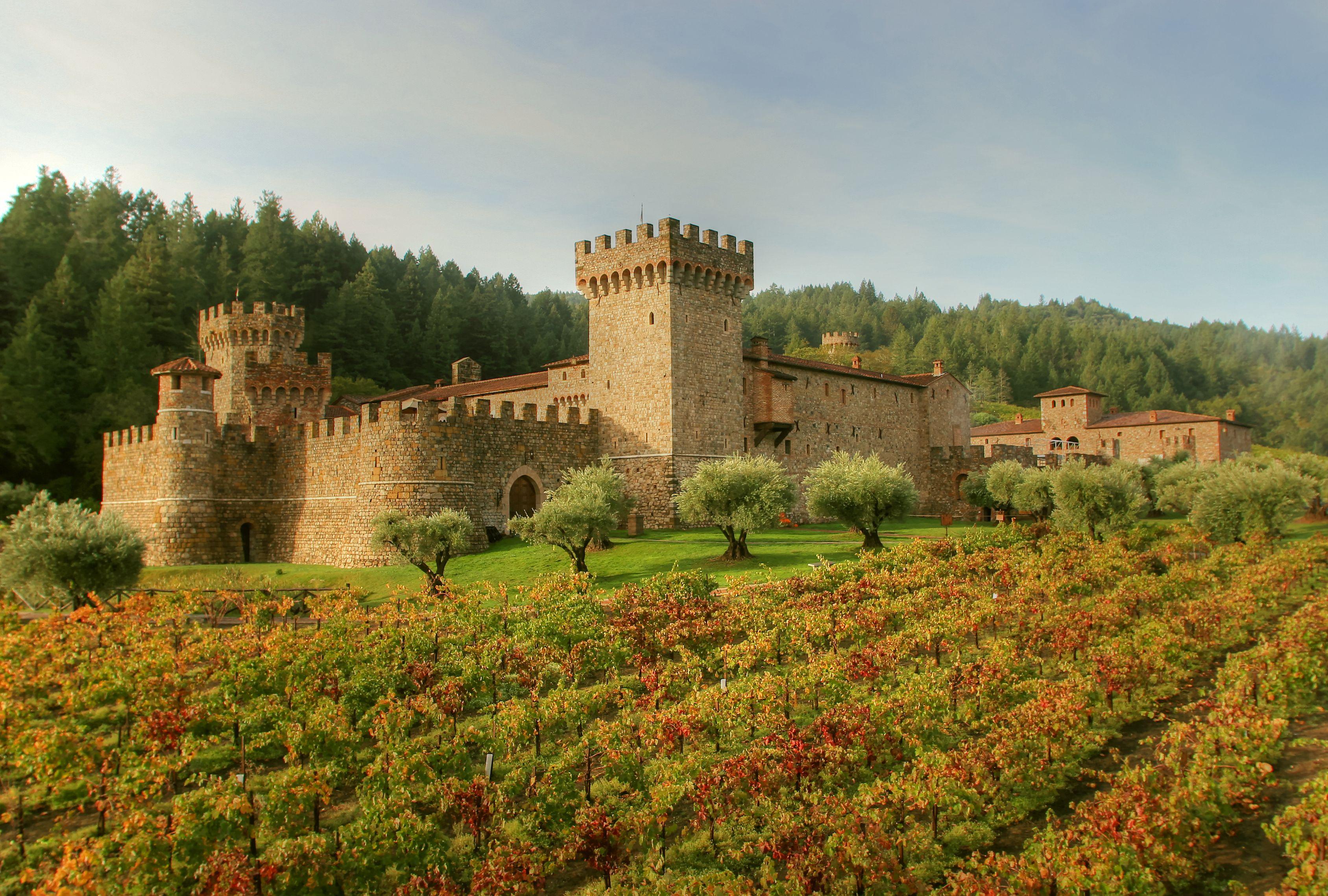 Castello di Amorosa in the fall