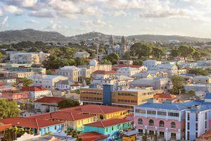Landscape of Antigua, St John's, Caribbean