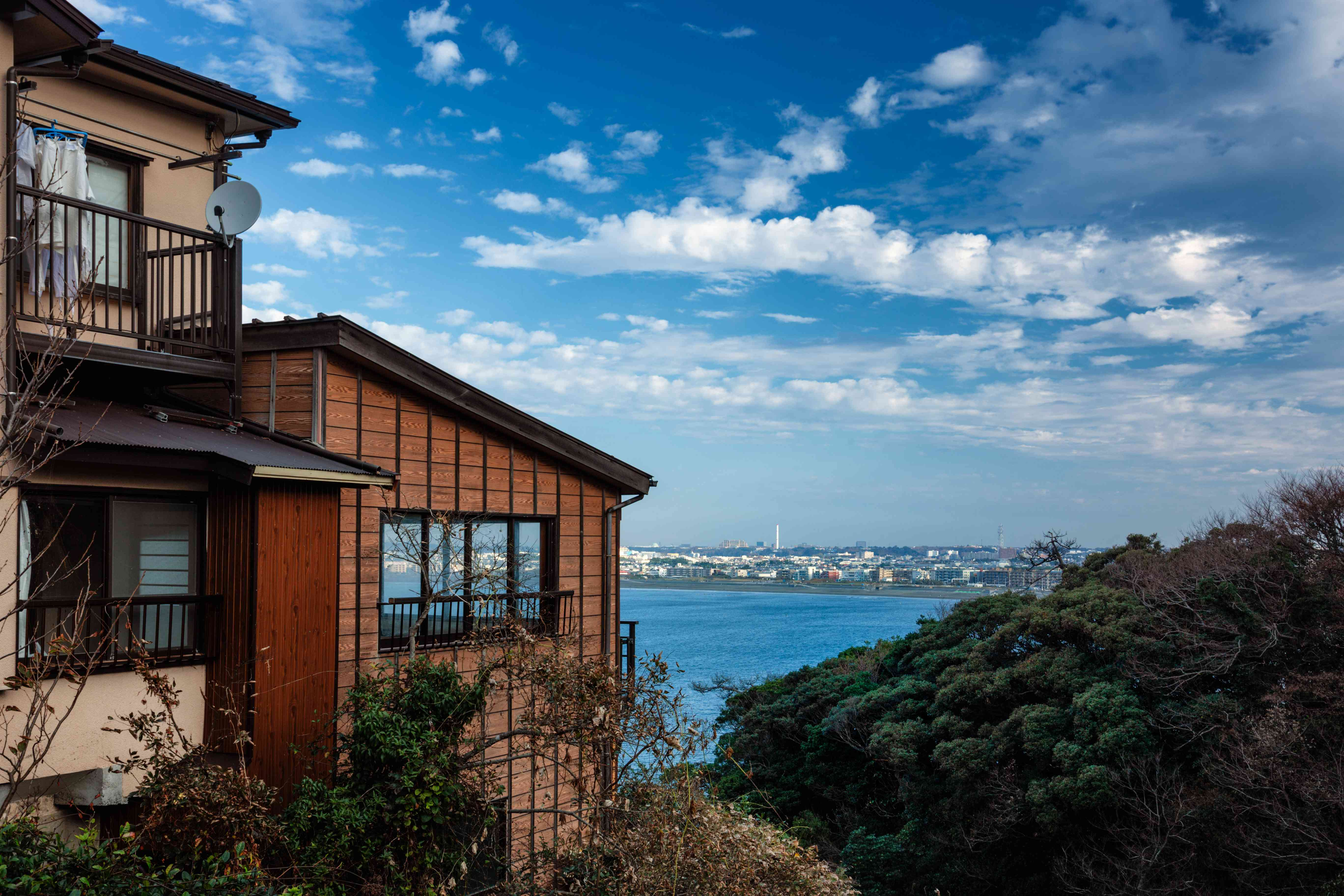 Old fisher houses in Enoshima, Japan