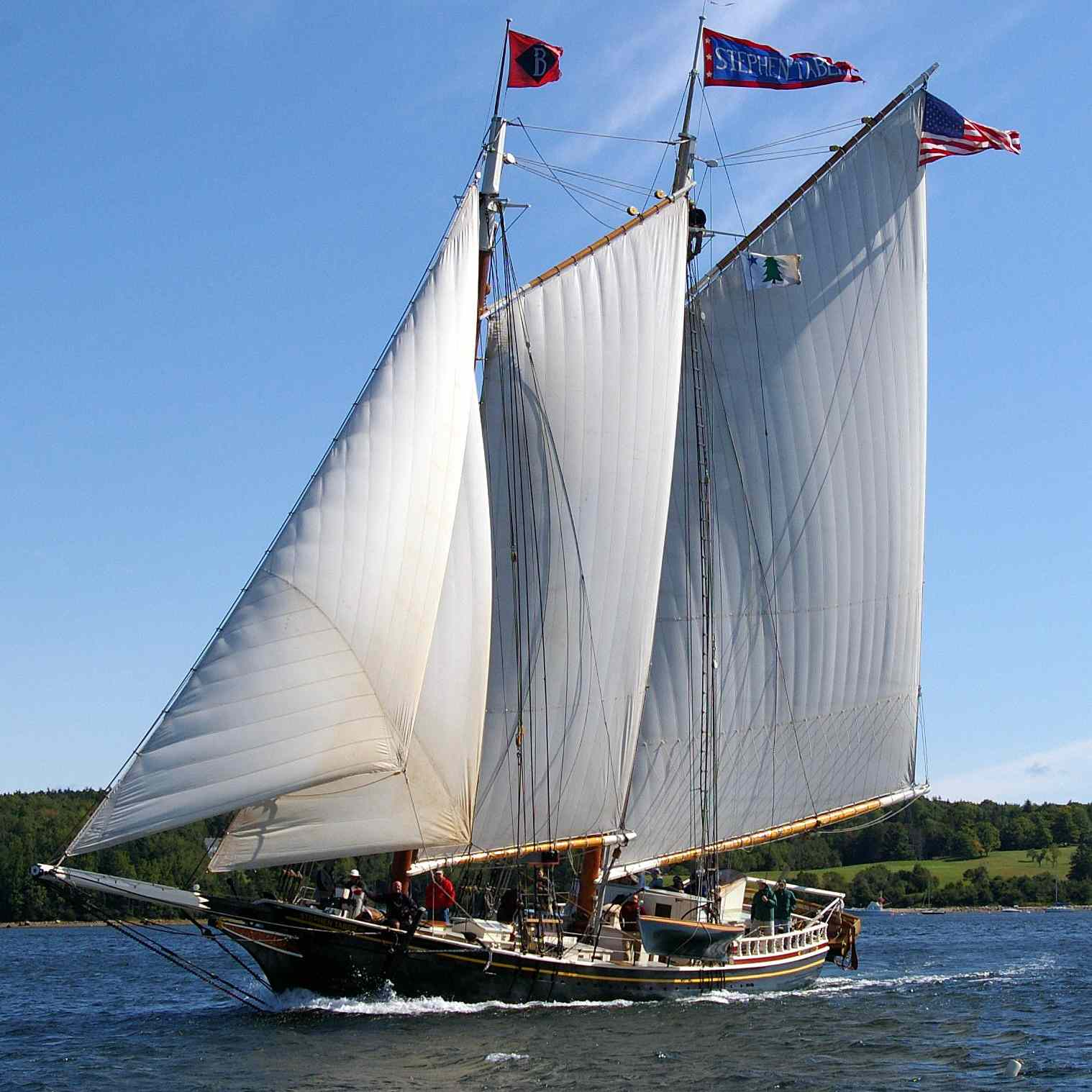 The Windjammer Stephen Taber sailing out of Maine