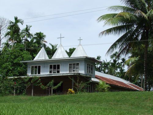 Christian Church in Bilbil Village near Madang, Papua New Guinea (PNG)