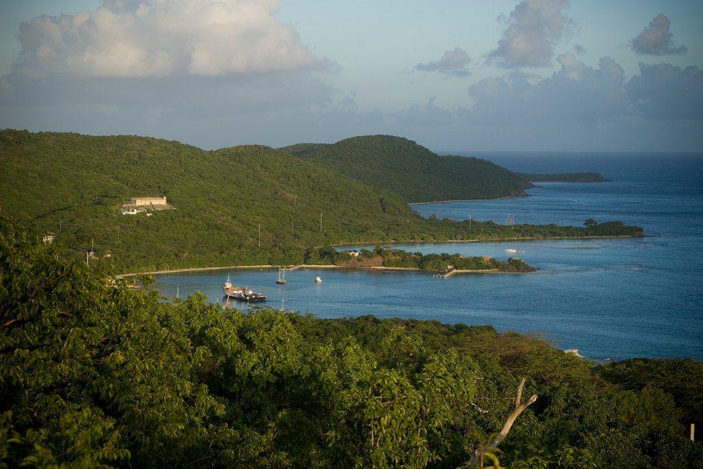 View from Villa Melones on Culebra, Puerto Rico