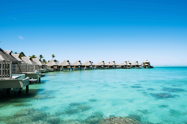 Bungalows sobre el agua en Bora Bora