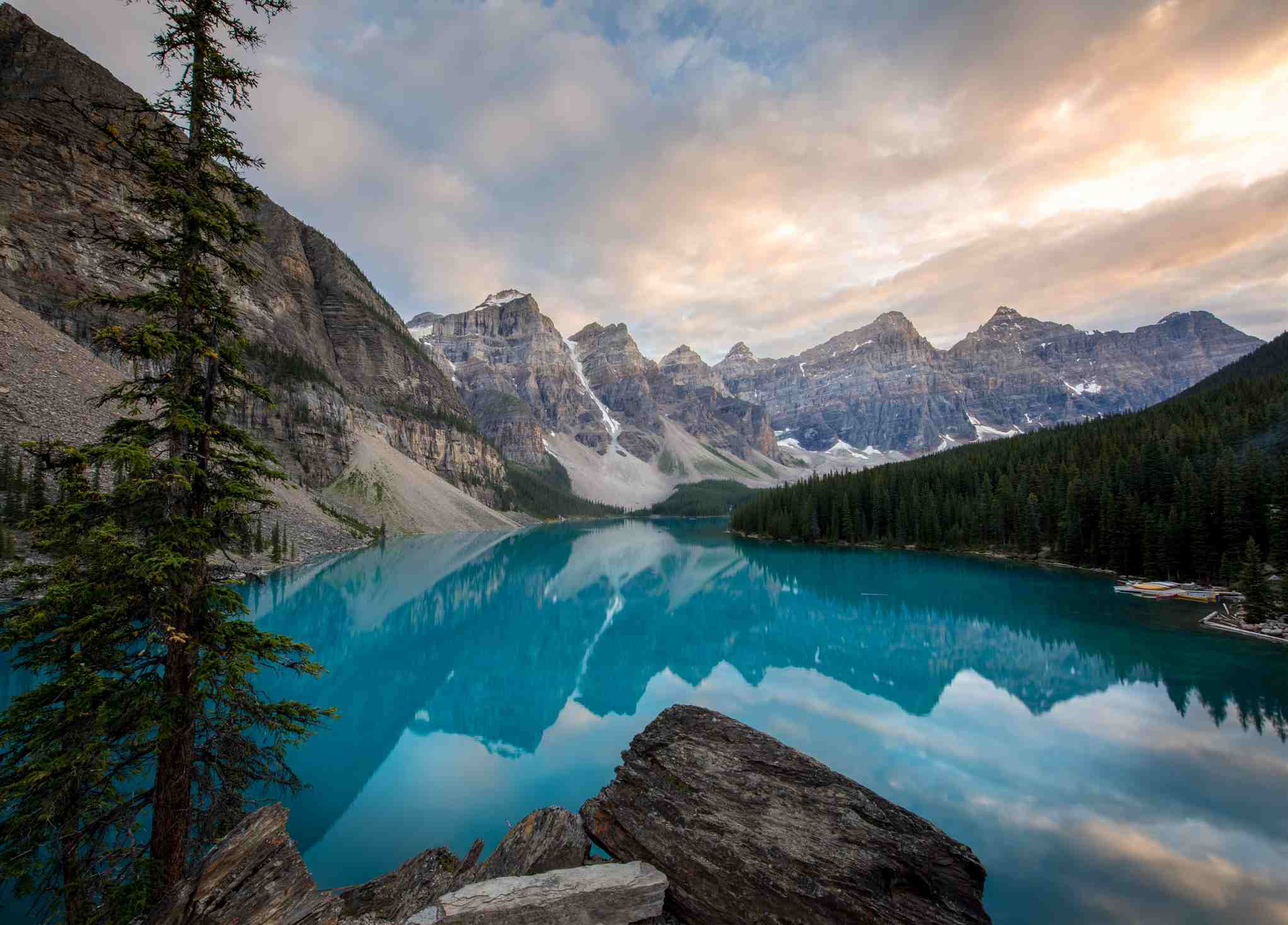 Moraine Lake in the Canadian Rockies.