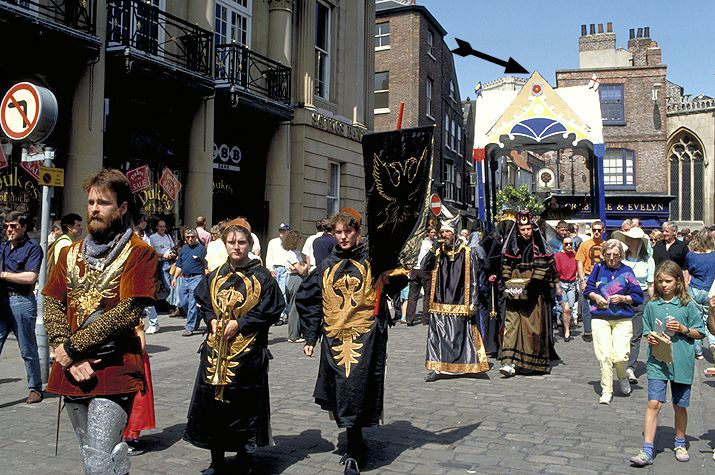 Pageant Wagon Play Procession in York