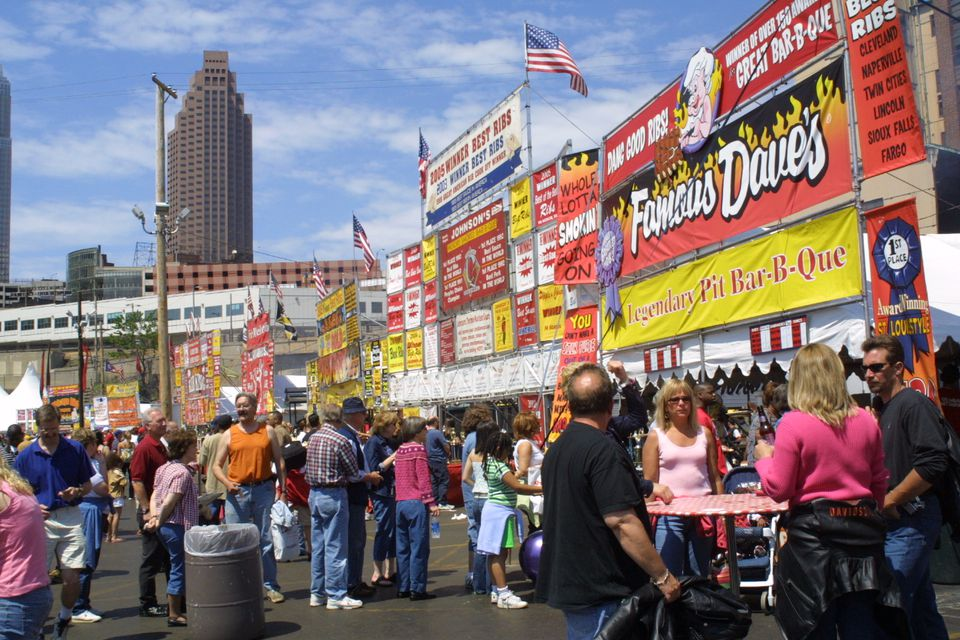 Crowds at the 2007 Great American Rib Cook-Off in Cleveland Ohio