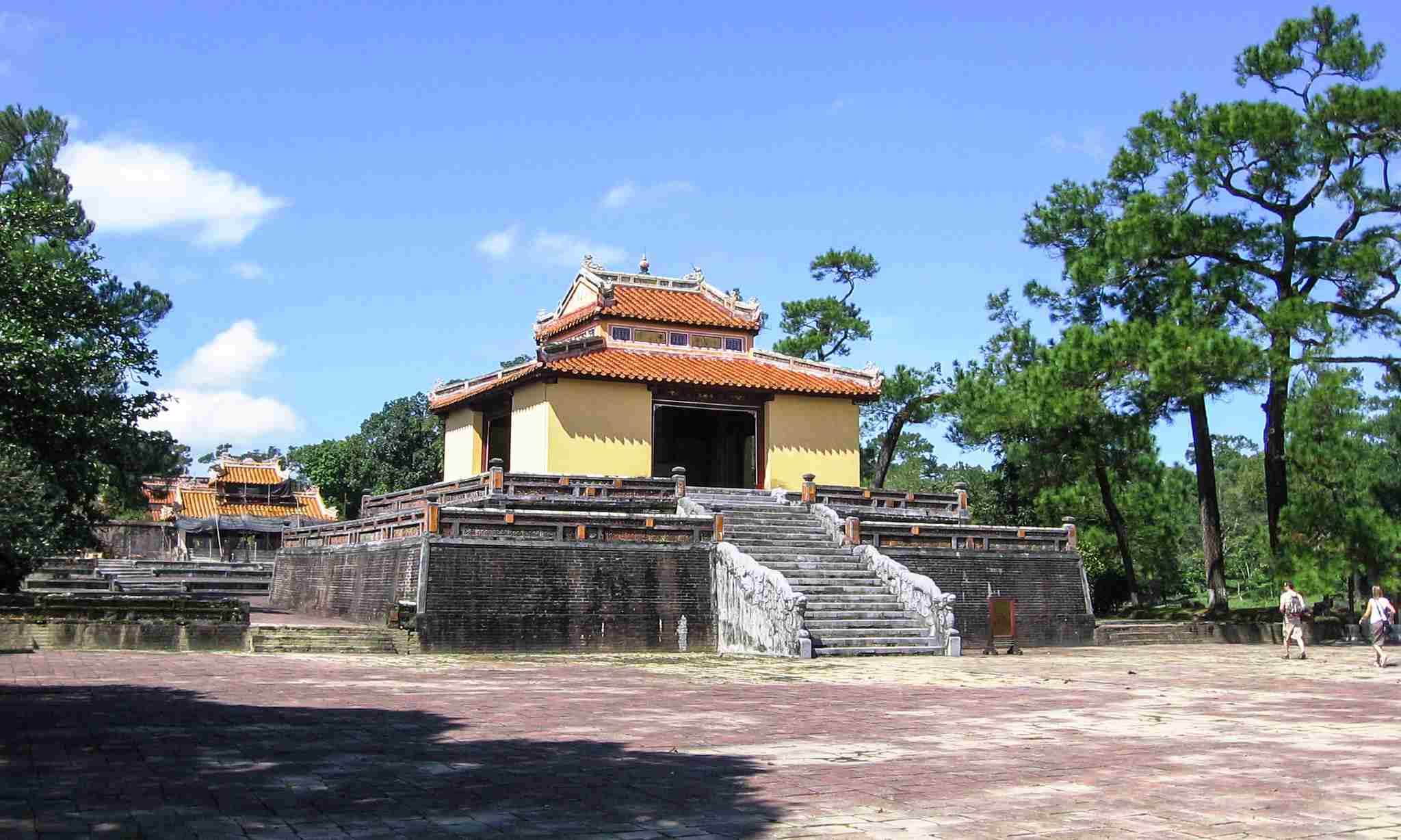 Stele Pavilion (Bi Dinh) in Minh Mang's Royal Tomb