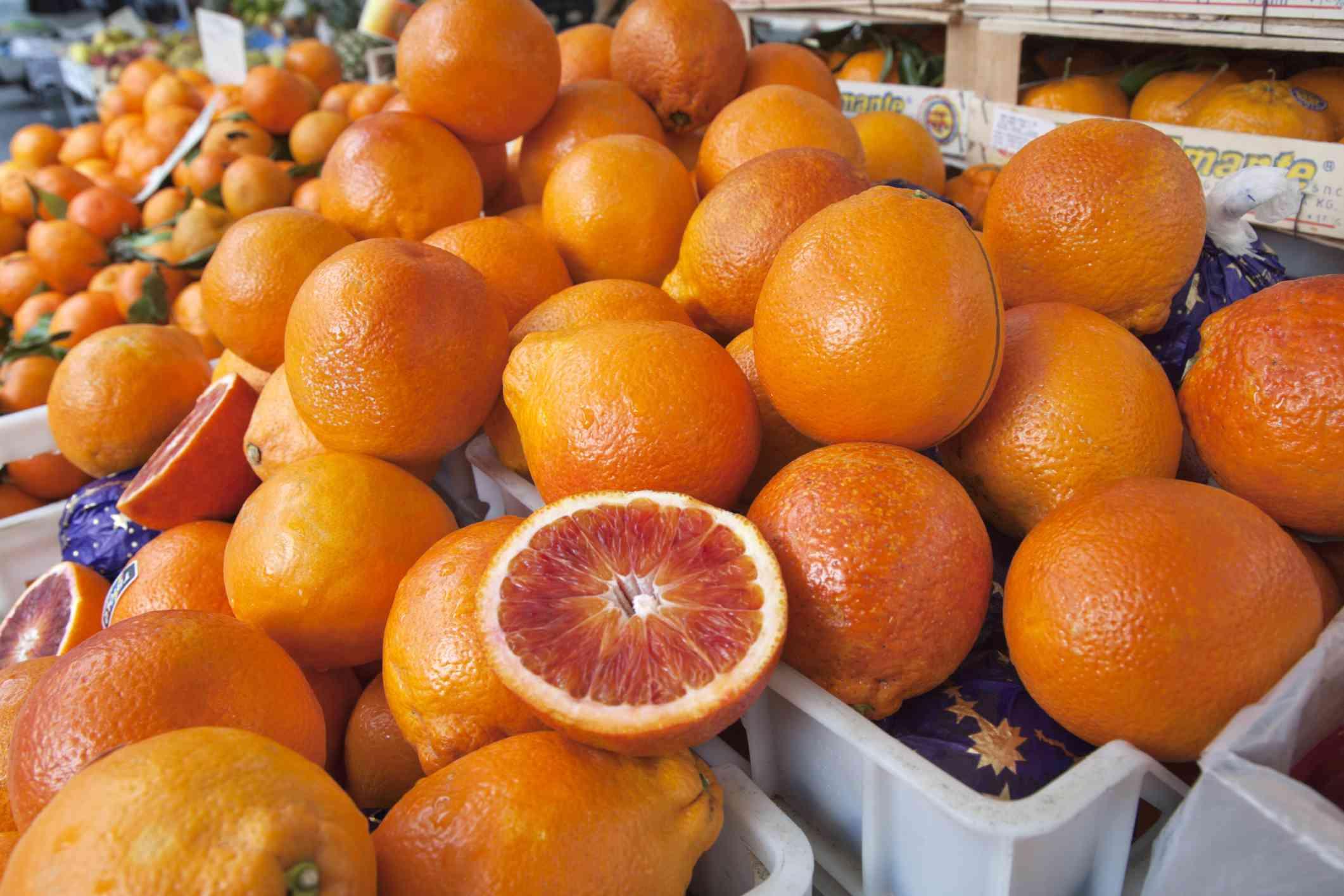 Blood Oranges at farmers market