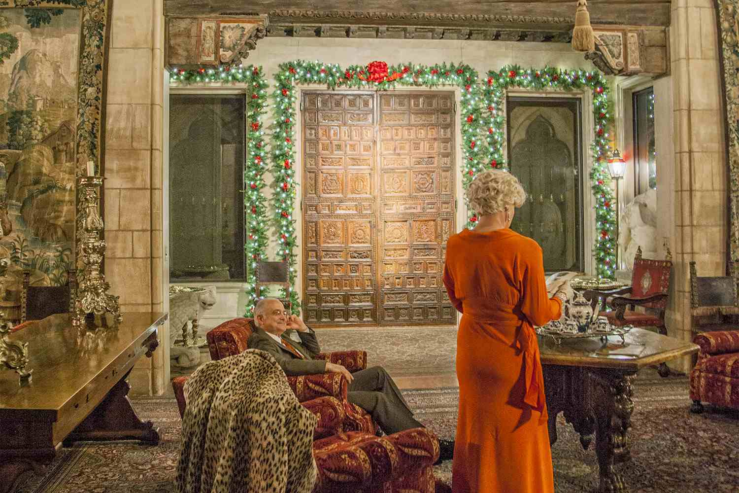 Docents Dressed as Guests, Hearst Castle at Christmas