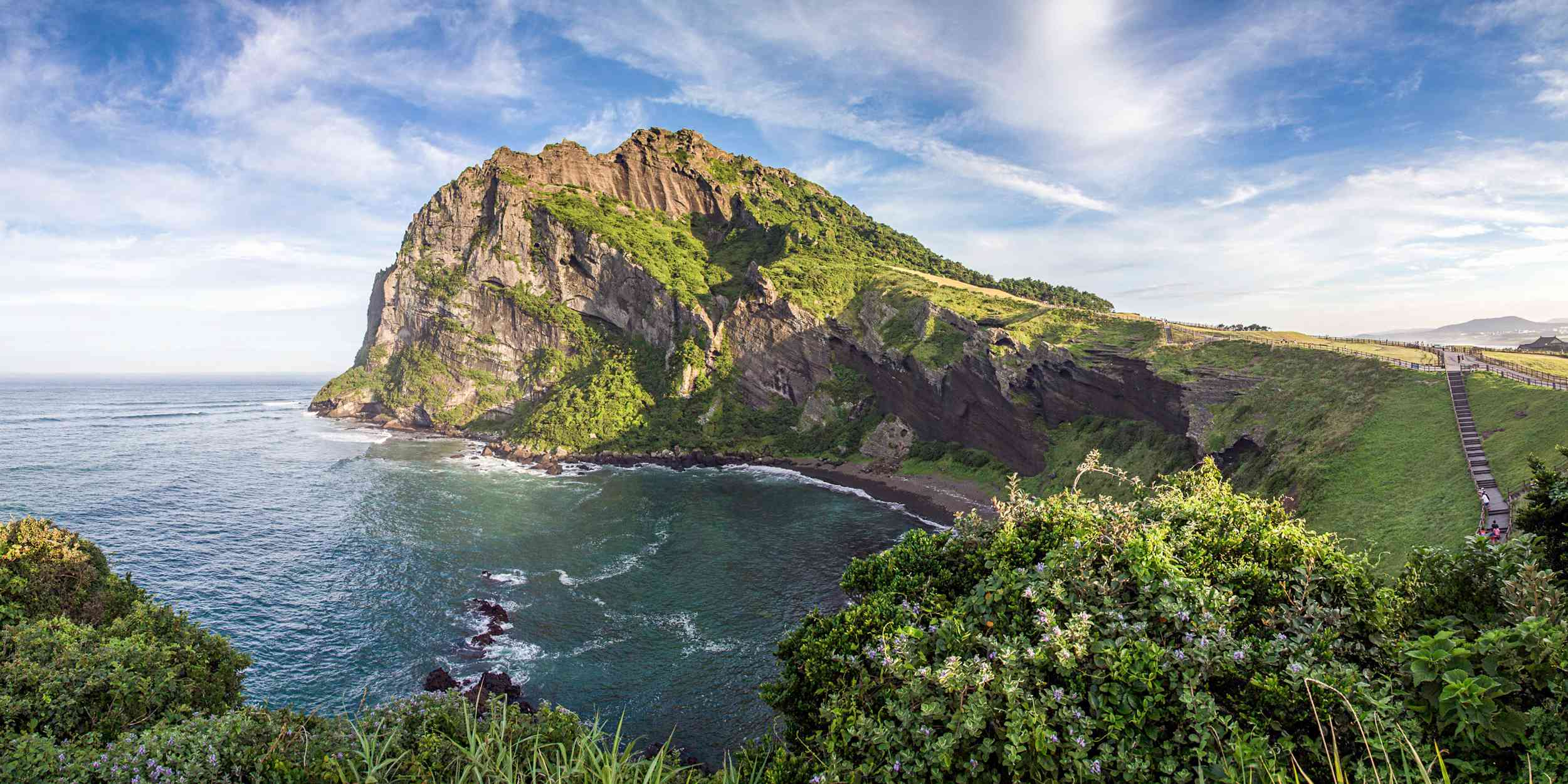 Coastal landscape of Jeju Island, South Korea