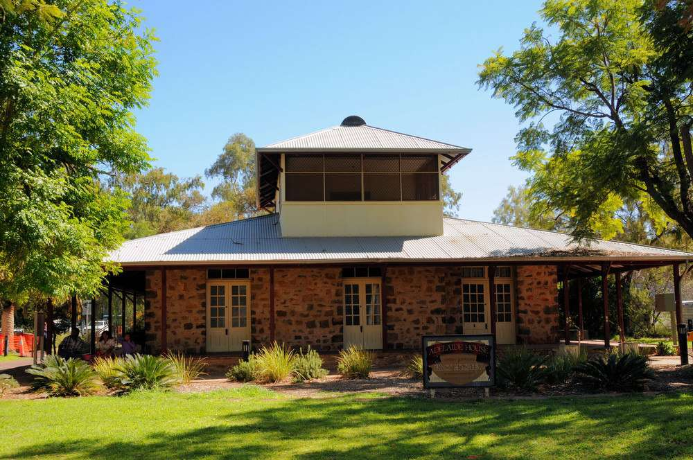 Exterior of historic building that housed the first hospital in Central Australia