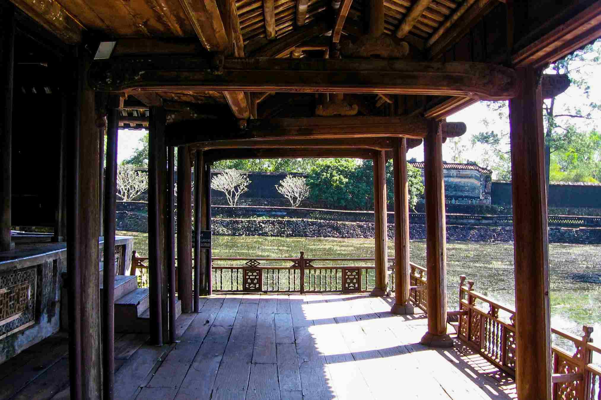 View from Xung Khiem Pavilion, Tu Duc Royal Tomb, Hue, Vietnam