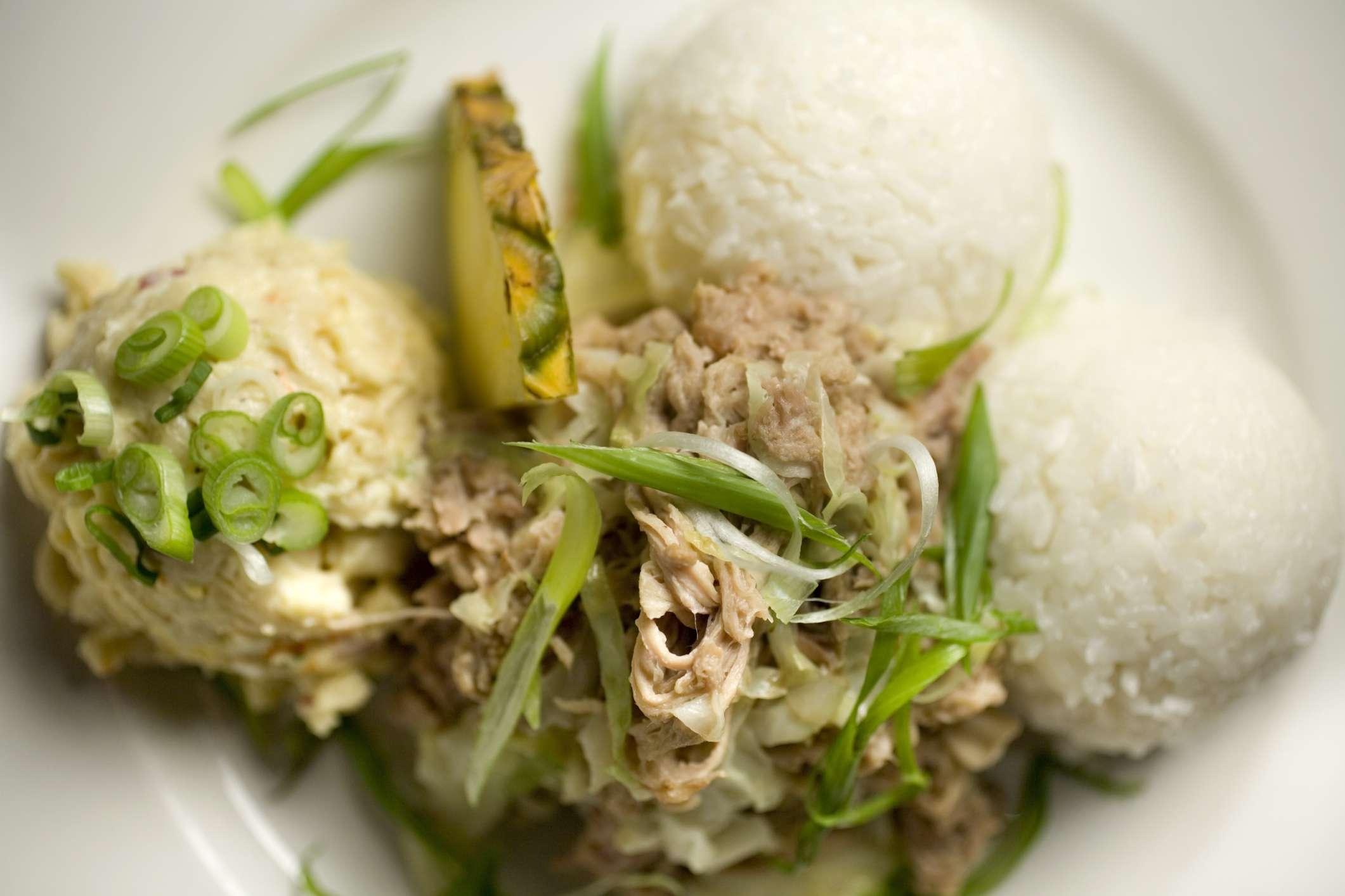 Hawaiian kalua pork plate