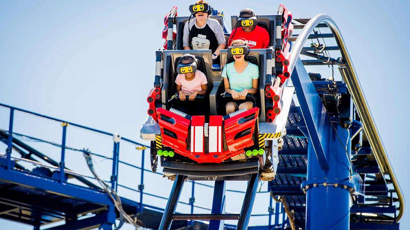 The Great Lego Race VR coaster Legoland