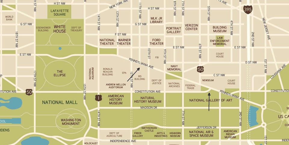 Pennsylvania Avenue in Washington, DC: Map & Directions
