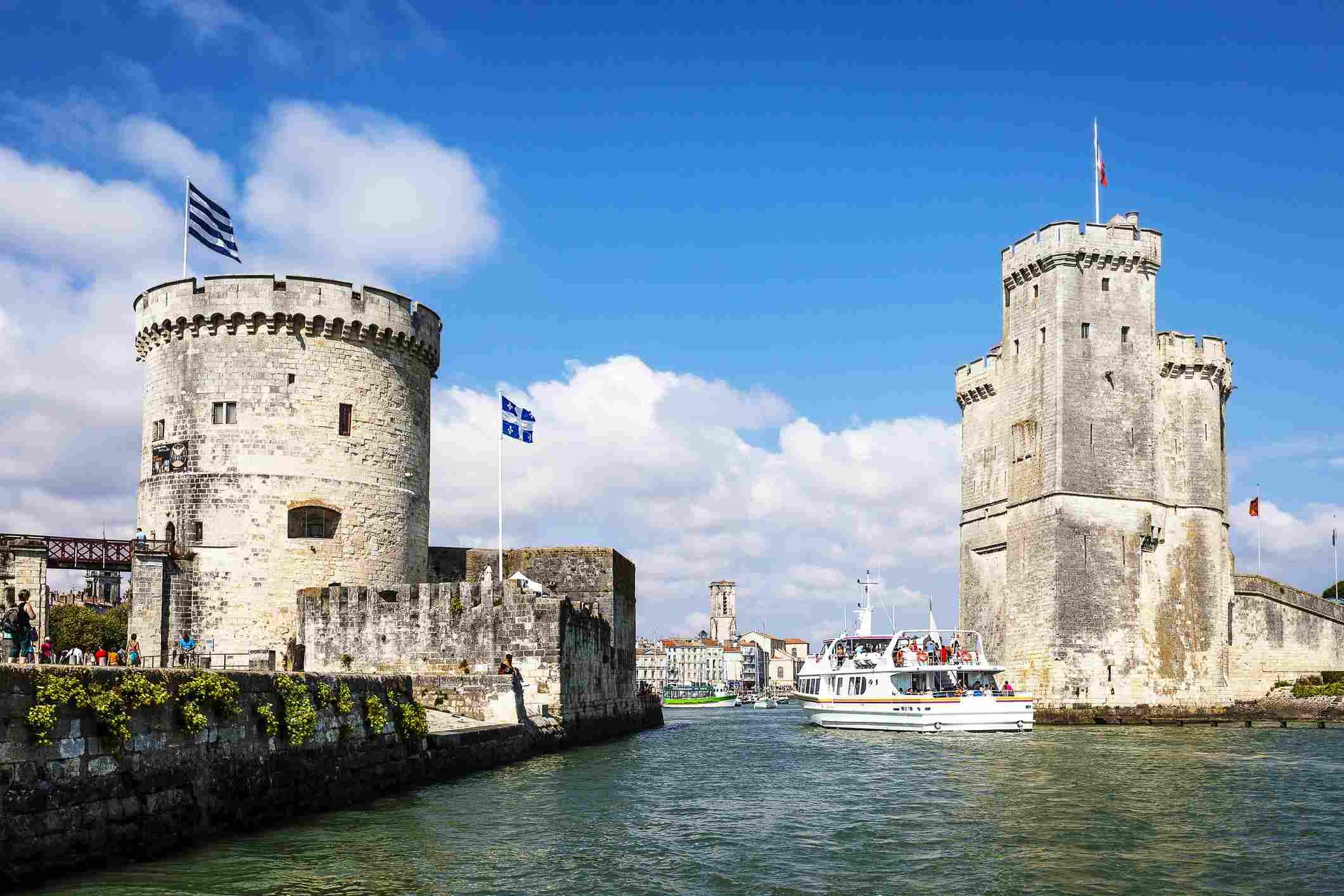 Entrance of La Rochelle port