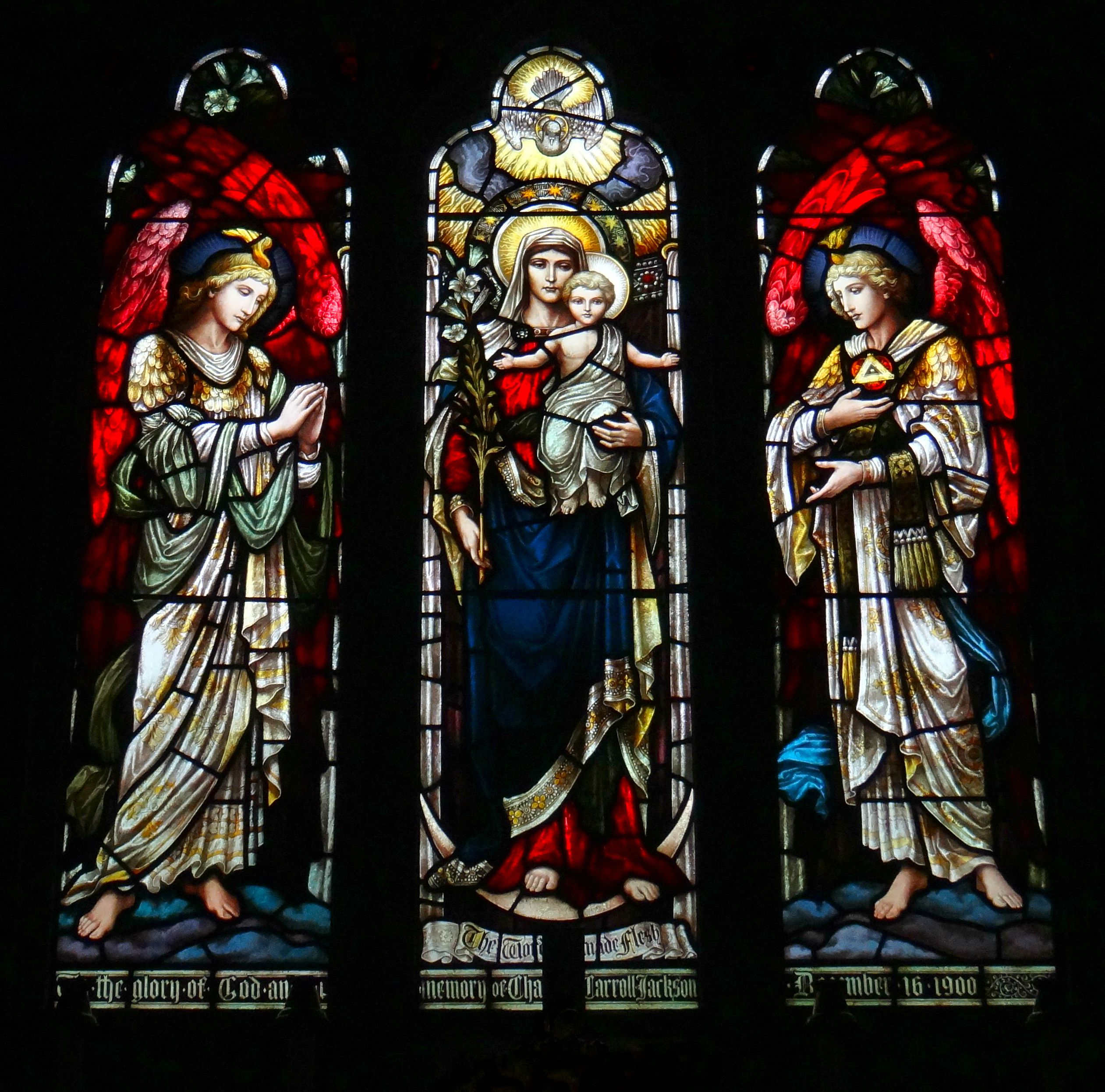 Windows in St Saviour's Episcopal Church Bar Harbor Maine