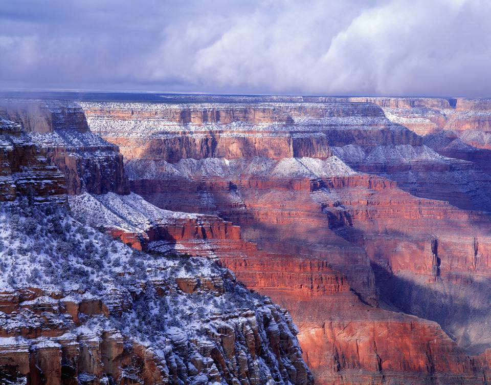 Arizona, Grand Canyon with snow, South Rim