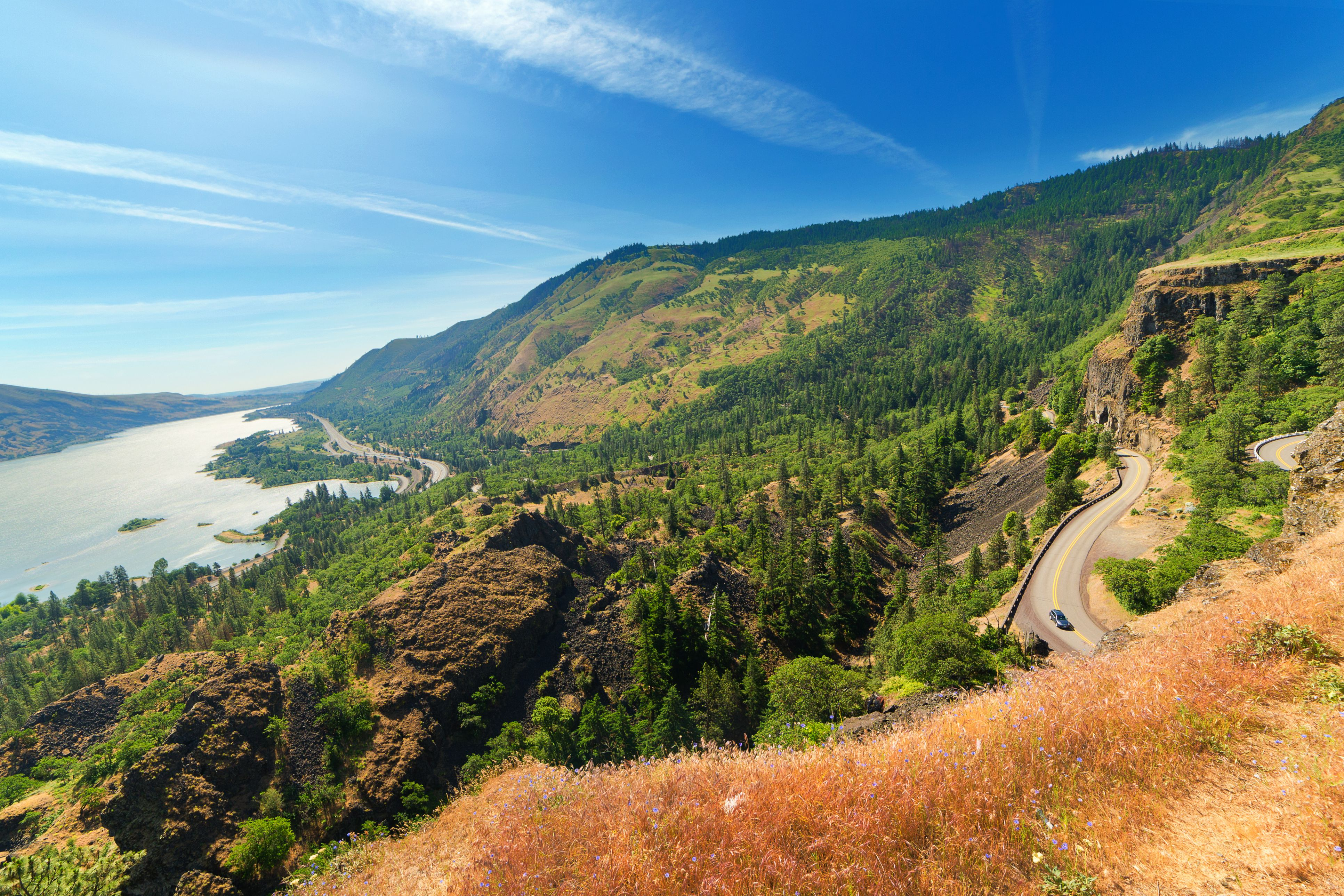 Old Columbia river Highway from Rowena Crest